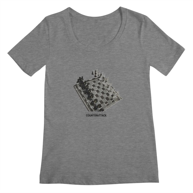 Preemptive Counterattack Women's Scoopneck by Wally's Shirt Shop