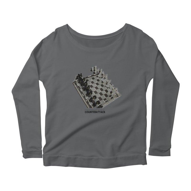Preemptive Counterattack Women's Longsleeve Scoopneck  by Wally's Shirt Shop
