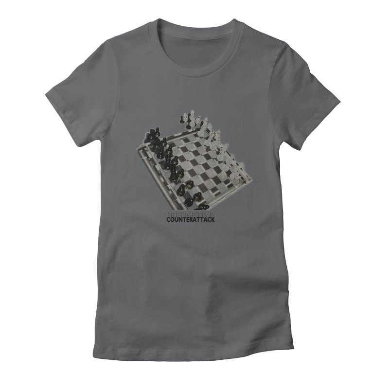 Preemptive Counterattack Women's Fitted T-Shirt by Wally's Shirt Shop