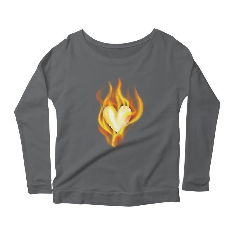 Ignite Women's Longsleeve Scoopneck  by Wally's Shirt Shop