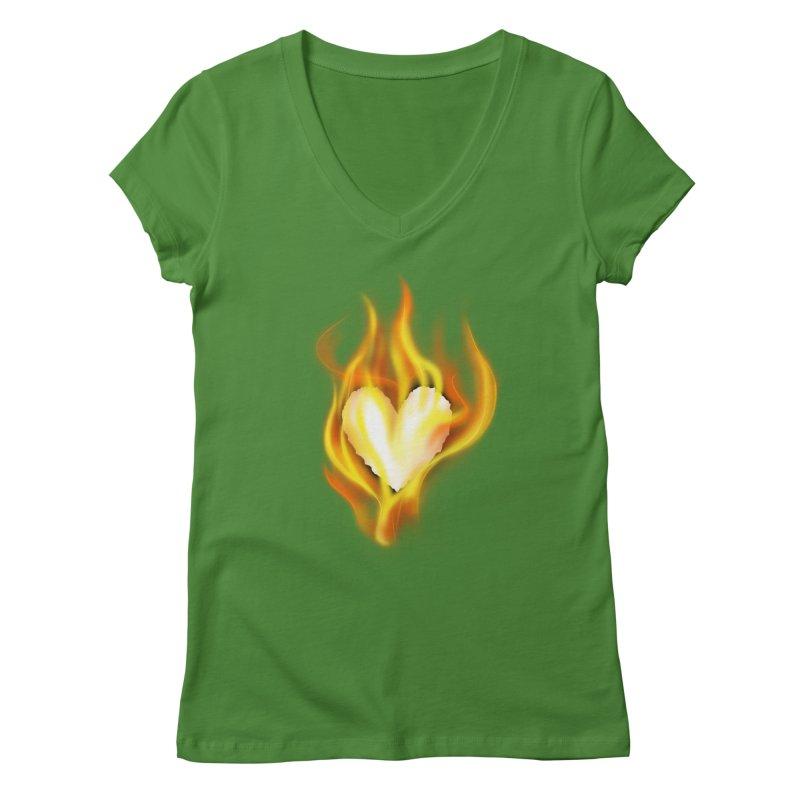 Ignite Women's V-Neck by Wally's Shirt Shop