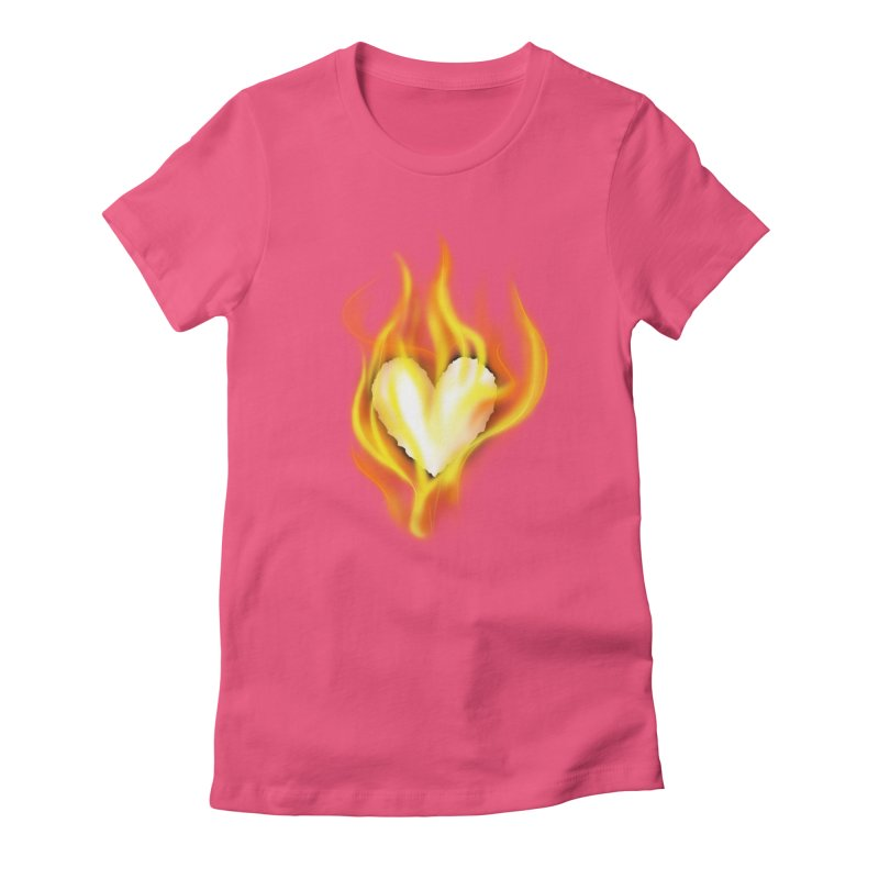 Ignite Women's Fitted T-Shirt by Wally's Shirt Shop