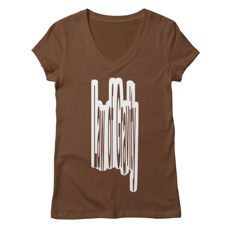 Law Of Gravity Women's V-Neck by Wally's Shirt Shop