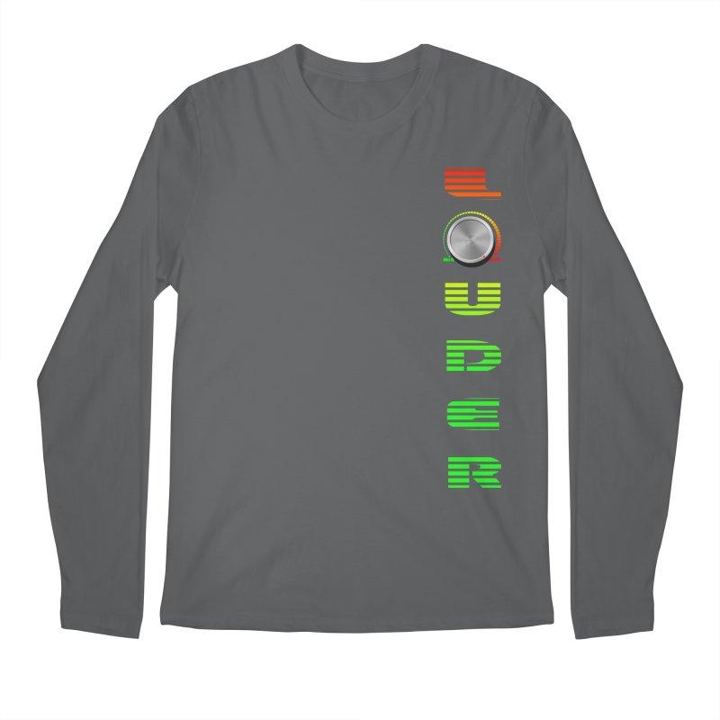 LOUDER Men's Longsleeve T-Shirt by Wally's Shirt Shop