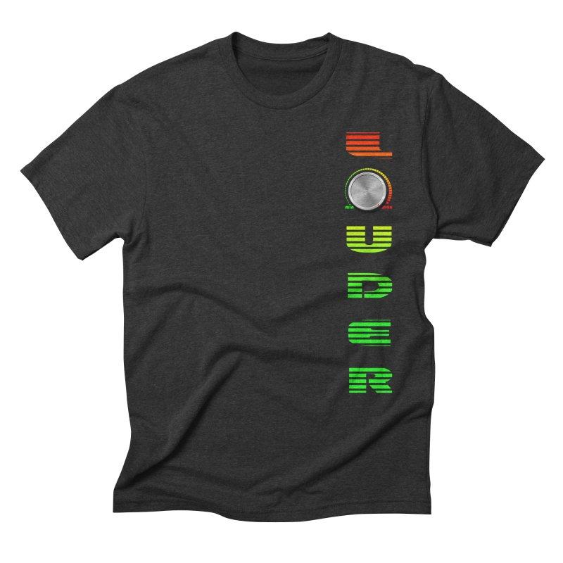 LOUDER Men's Triblend T-Shirt by Wally's Shirt Shop