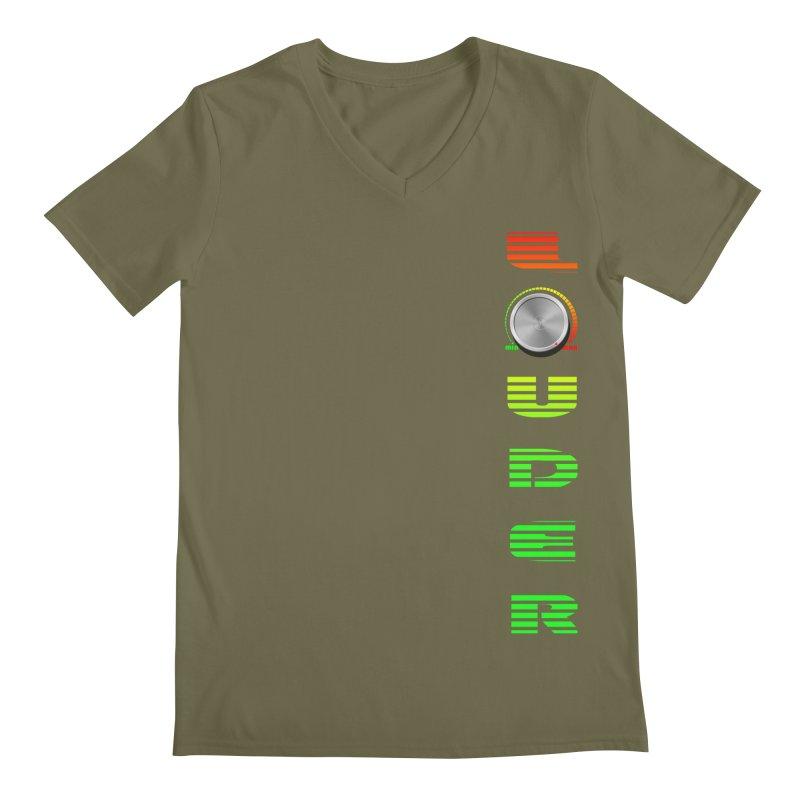 LOUDER Men's Regular V-Neck by Wally's Shirt Shop