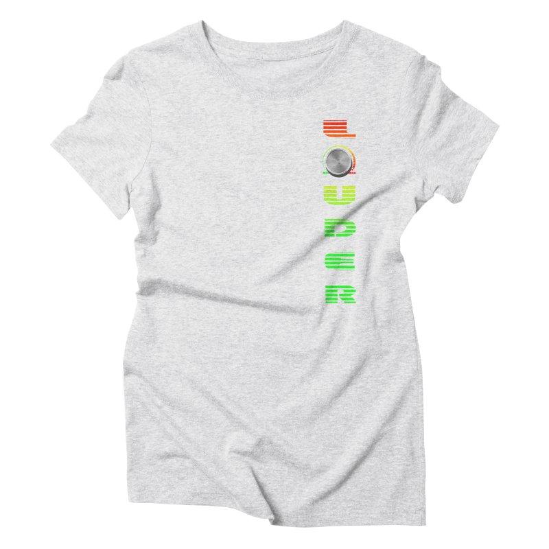 LOUDER Women's Triblend T-shirt by Wally's Shirt Shop