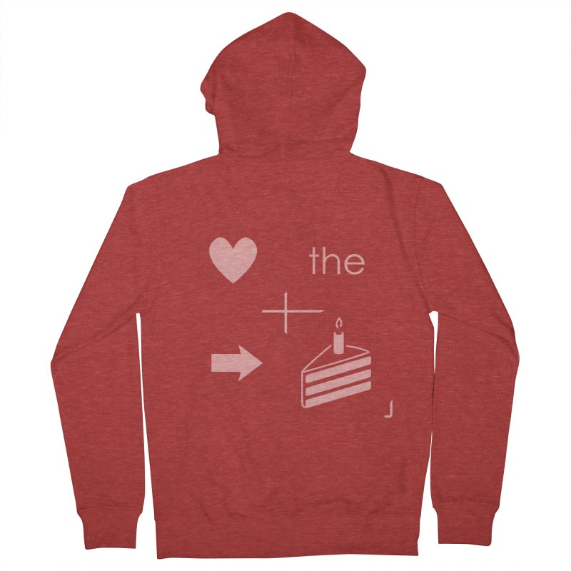 Love The Right Cake Men's Zip-Up Hoody by Wally's Shirt Shop
