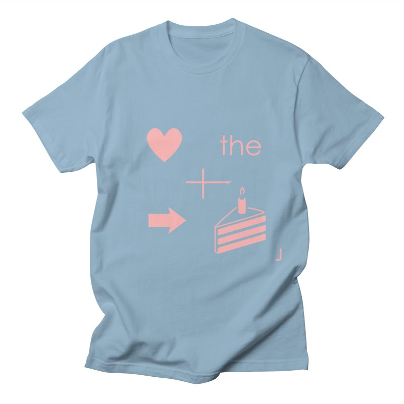 Love The Right Cake Men's T-Shirt by Wally's Shirt Shop