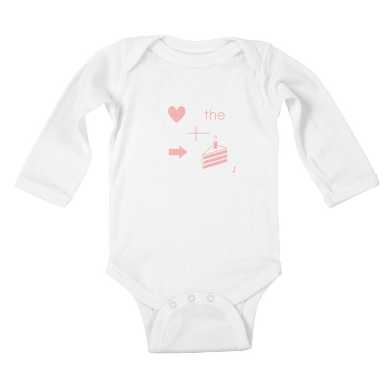 Love The Right Cake Kids Baby Longsleeve Bodysuit by Wally's Shirt Shop