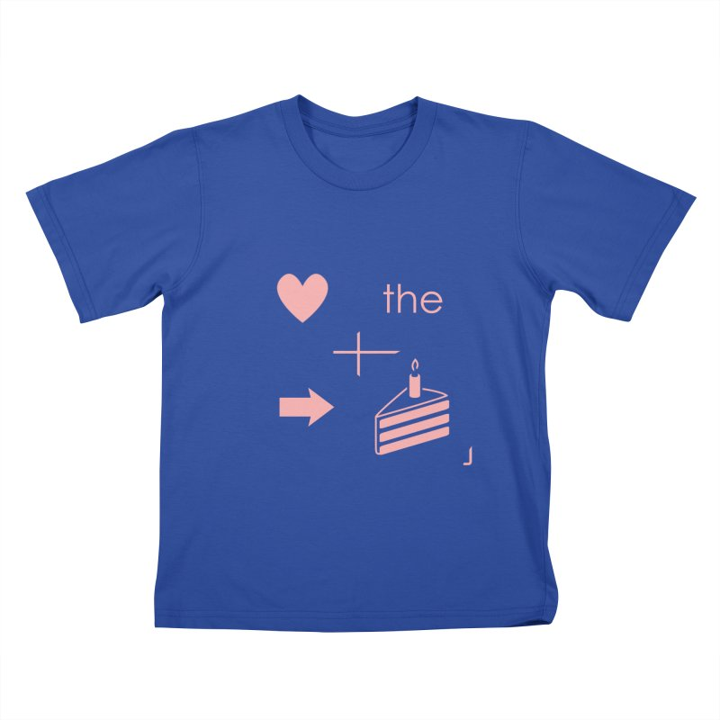 Love The Right Cake Kids T-Shirt by Wally's Shirt Shop