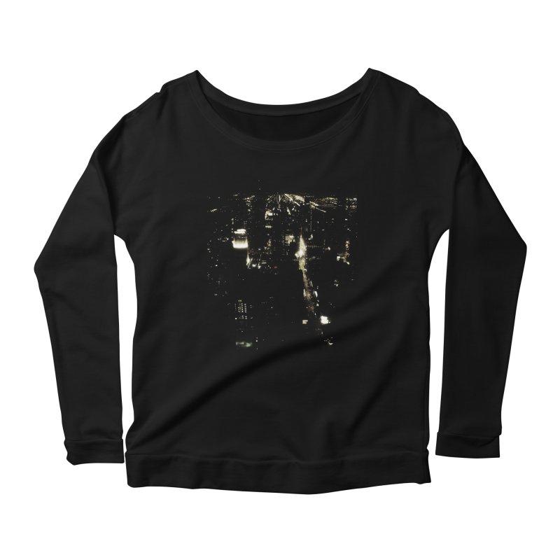 River of Light Women's Longsleeve Scoopneck  by Wally's Shirt Shop