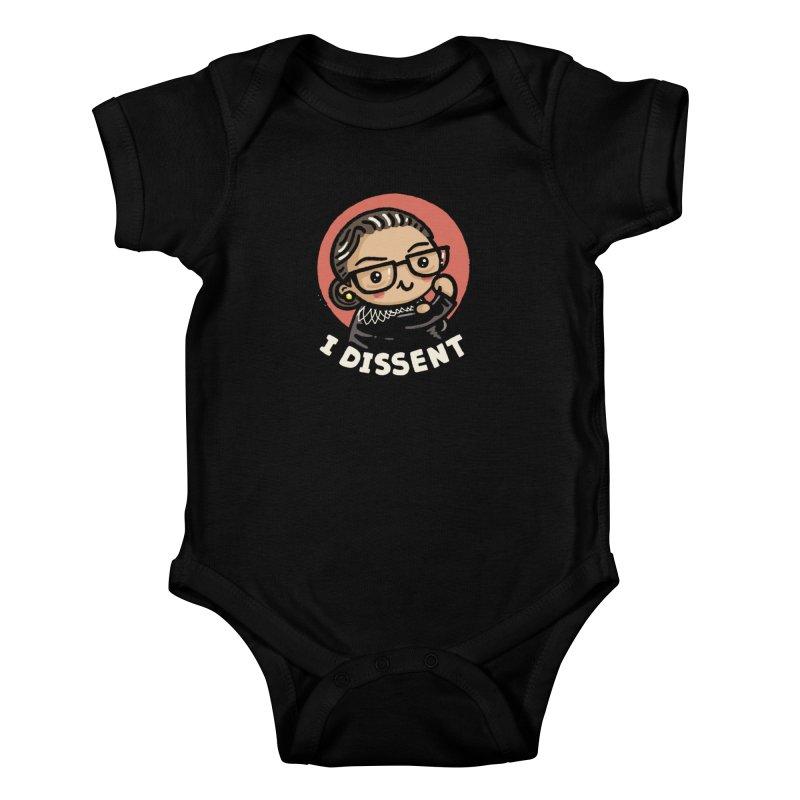Girl power, I Dissent Kids Baby Bodysuit by Walmazan's Artist Shop