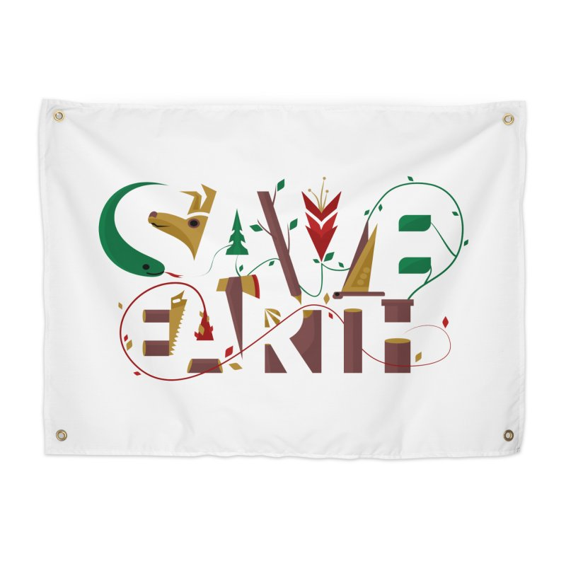 Save Earth Home Tapestry by Walter2Costinak's Artist Shop