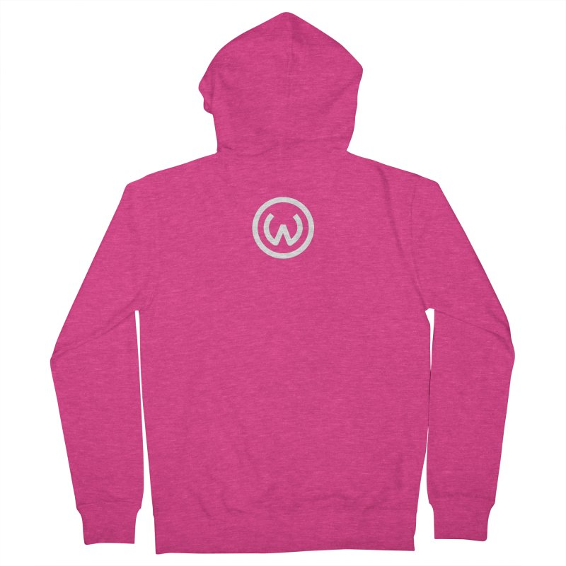 Classic Circle W in Women's French Terry Zip-Up Hoody Heather Heliconia by Waters Wear
