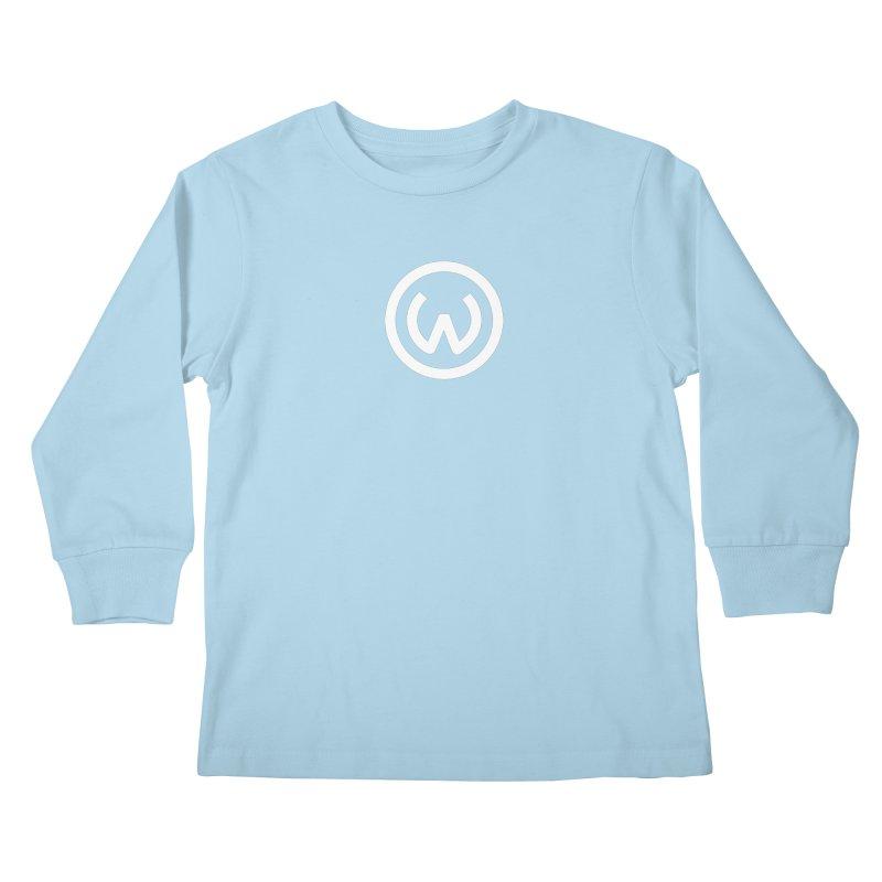 Classic Circle W in Kids Longsleeve T-Shirt Powder Blue by Waters Wear