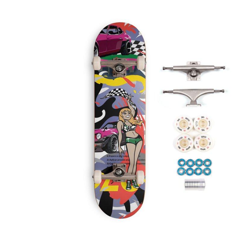 Street Race Accessories Complete - Premium Skateboard by Watsonscribbles's Artist Shop