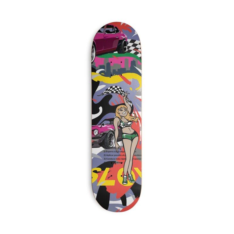 Street Race Accessories Deck Only Skateboard by Watsonscribbles's Artist Shop