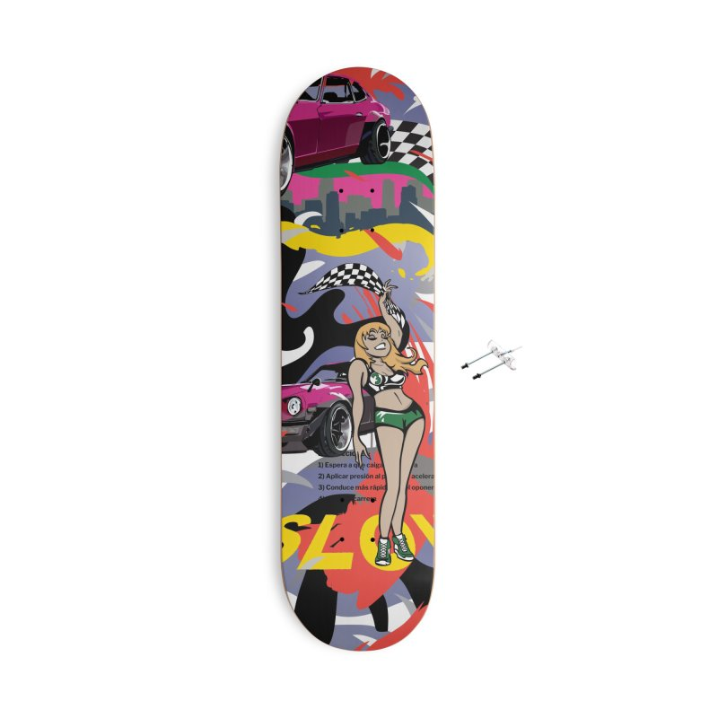 Street Race Accessories With Hanging Hardware Skateboard by Watsonscribbles's Artist Shop