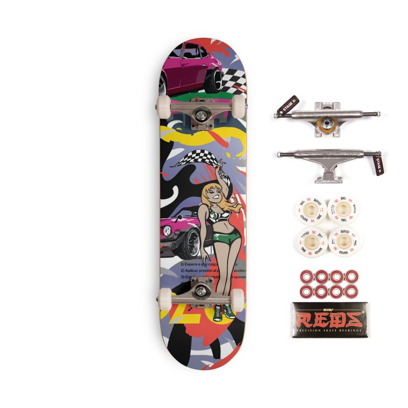 Street Race Accessories Complete - Pro Skateboard by Watsonscribbles's Artist Shop