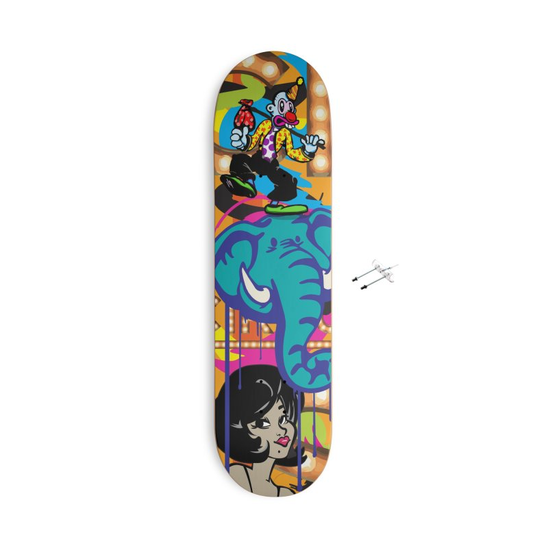 Big Top Accessories With Hanging Hardware Skateboard by Watsonscribbles's Artist Shop