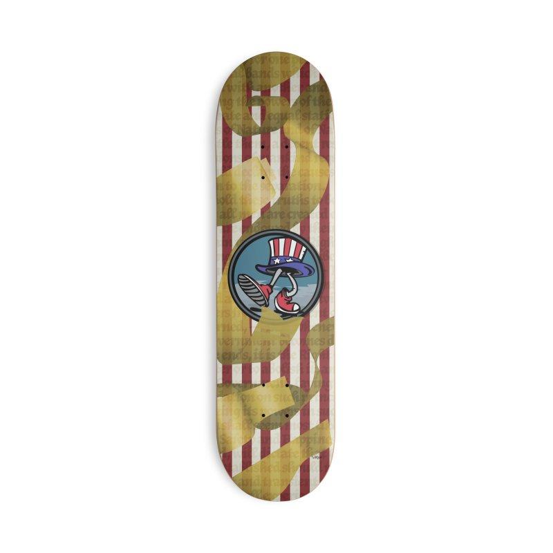 Merican Spirit Accessories Deck Only Skateboard by Watsonscribbles's Artist Shop