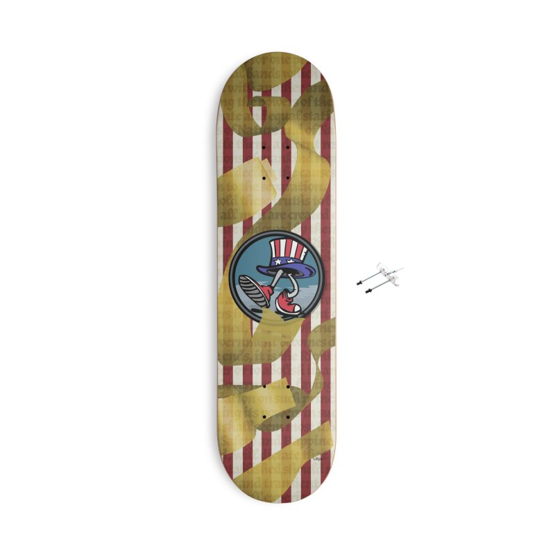 Merican Spirit Accessories With Hanging Hardware Skateboard by Watsonscribbles's Artist Shop