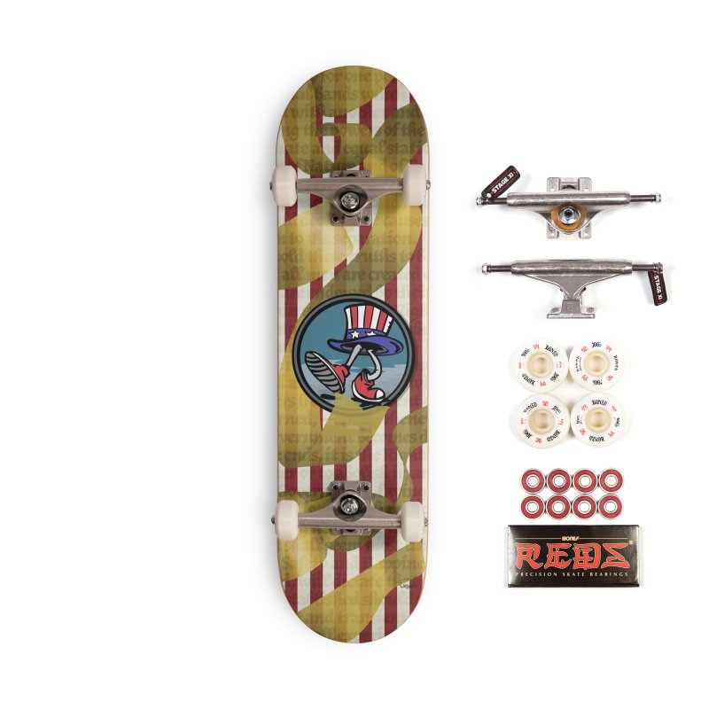 Merican Spirit Accessories Complete - Pro Skateboard by Watsonscribbles's Artist Shop