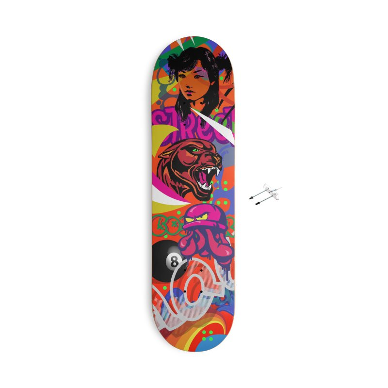 Wallride Accessories With Hanging Hardware Skateboard by Watsonscribbles's Artist Shop