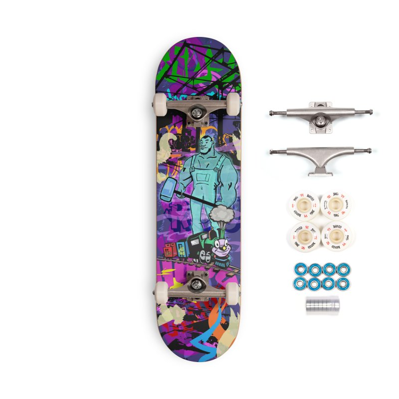 The Ghost of John Henry Accessories Complete - Premium Skateboard by Watsonscribbles's Artist Shop