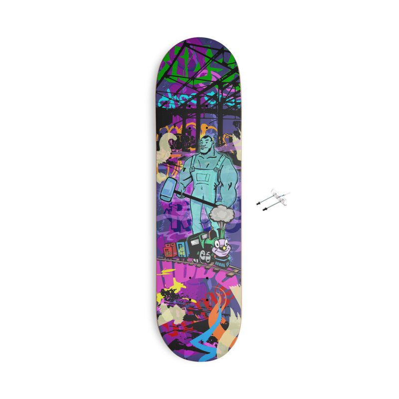 The Ghost of John Henry Accessories With Hanging Hardware Skateboard by Watsonscribbles's Artist Shop