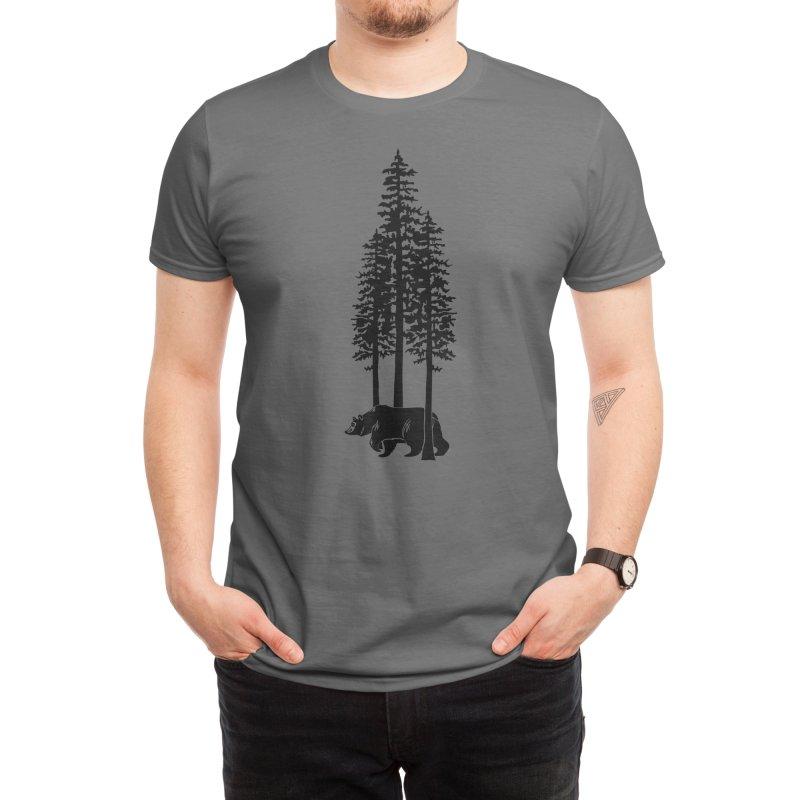 Walking Bear Men's T-Shirt by We Are California Grown's Artist Shop