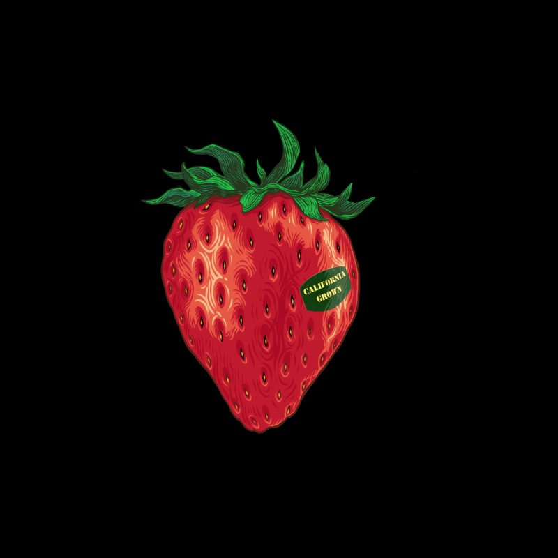 CA Grown Strawberry Men's T-Shirt by We Are California Grown's Artist Shop