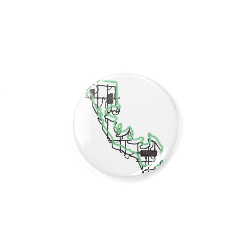 Green Neon Sign Accessories Button by We Are California Grown's  Artist Shop