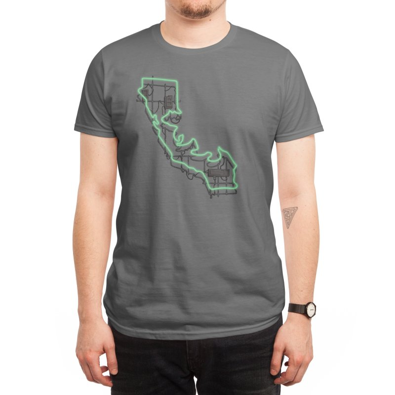 Green Neon Sign Men's T-Shirt by We Are California Grown's Artist Shop
