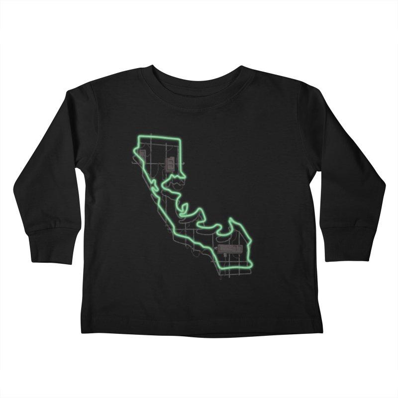 Green Neon Sign Kids Toddler Longsleeve T-Shirt by We Are California Grown's  Artist Shop