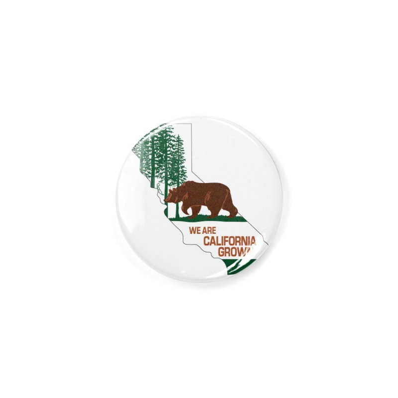 Bear State Accessories Button by We Are California Grown's  Artist Shop