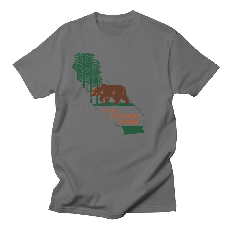 Bear State Men's T-Shirt by We Are California Grown's  Artist Shop