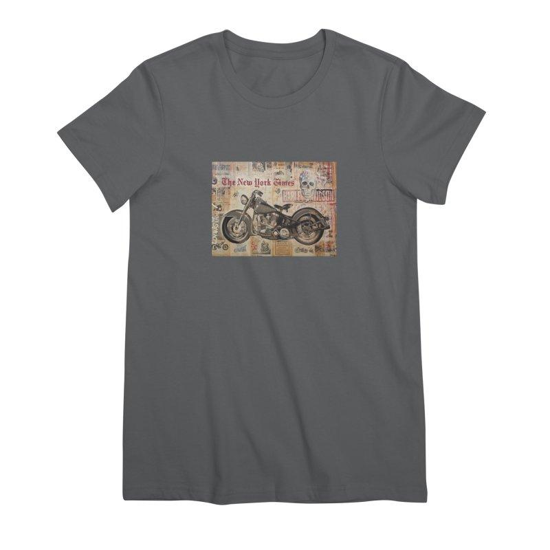 Harley Davidson by Eric B Women's T-Shirt by We Wear Art Light