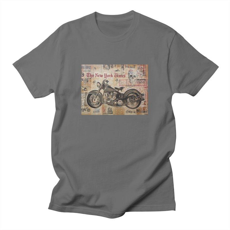 Harley Davidson by Eric B Men's T-Shirt by We Wear Art Light
