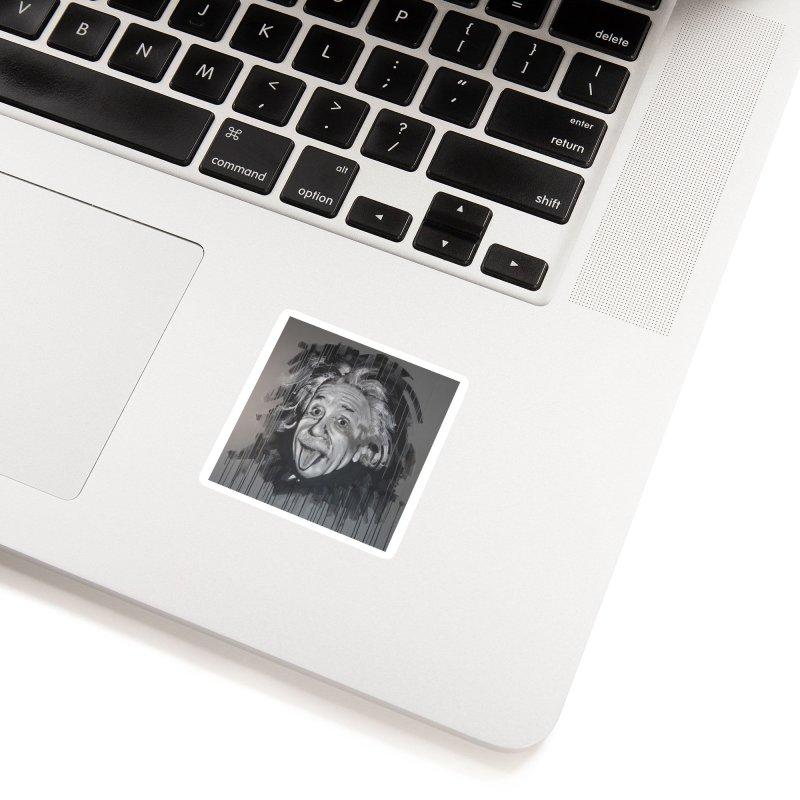 Albert Einstein by Eric B Accessories Sticker by We Wear Art Light