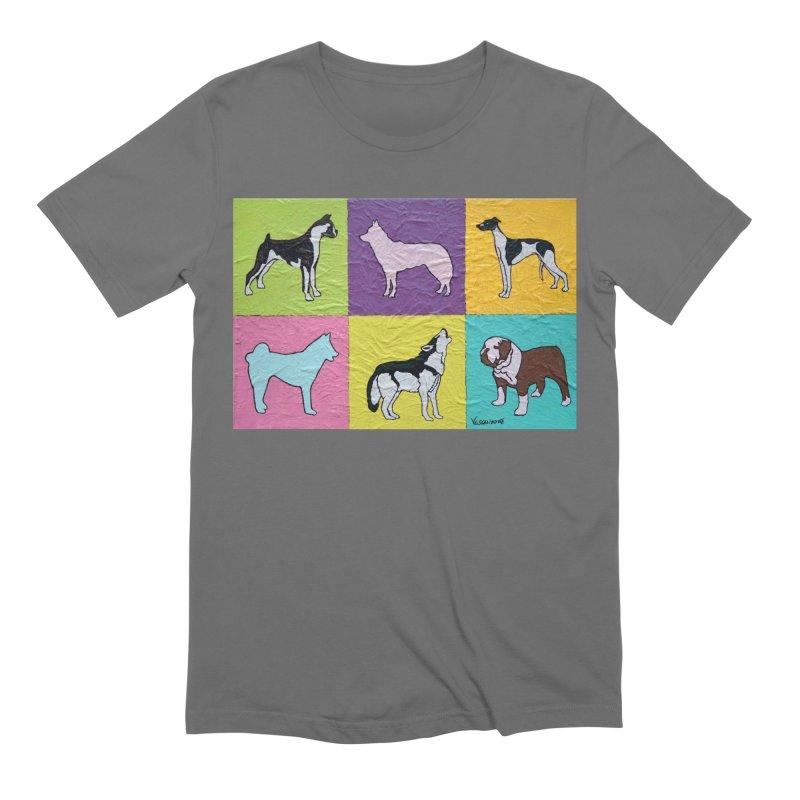 Six Dogs by Vlado V Men's T-Shirt by We Wear Art Light