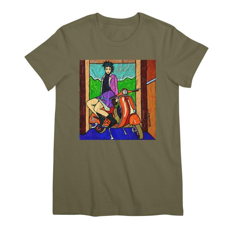 The Italian Vespa Girl by Vlado V Women's T-Shirt by We Wear Art Light