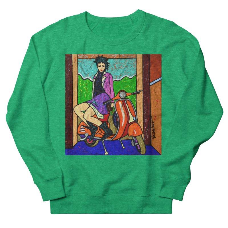 The Italian Vespa Girl by Vlado V Women's Sweatshirt by We Wear Art Light