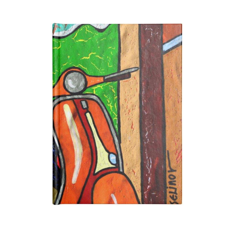 The Italian Vespa Girl by Vlado V Accessories Notebook by We Wear Art Light