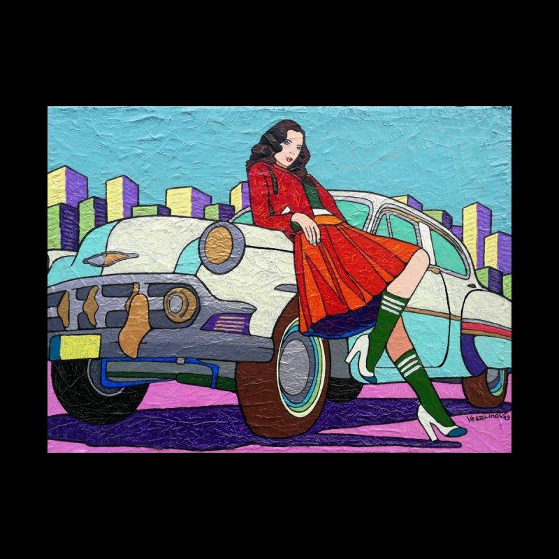 Chevy Girl by Vlado V Home Framed Fine Art Print by We Wear Art Light