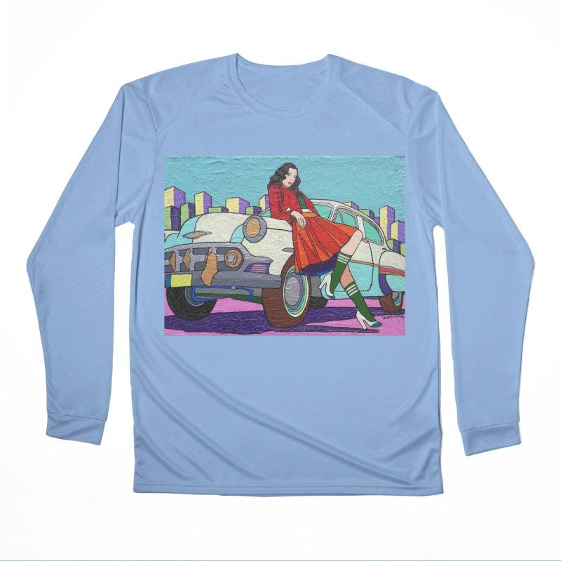 Chevy Girl by Vlado V Women's Longsleeve T-Shirt by We Wear Art Light