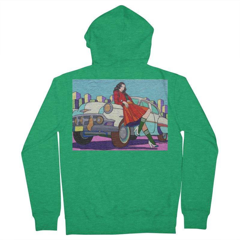 Chevy Girl by Vlado V Men's Zip-Up Hoody by We Wear Art Light