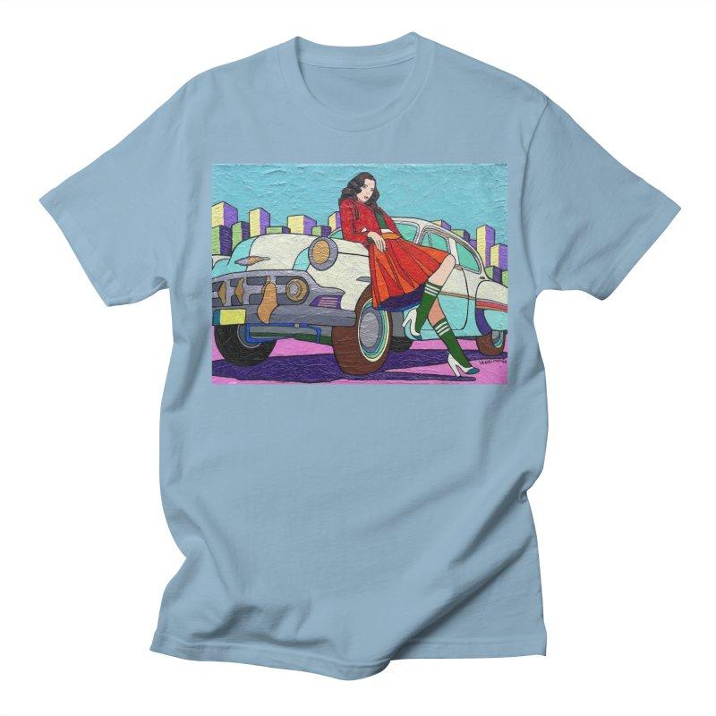 Chevy Girl by Vlado V Men's Regular T-Shirt by We Wear Art Light