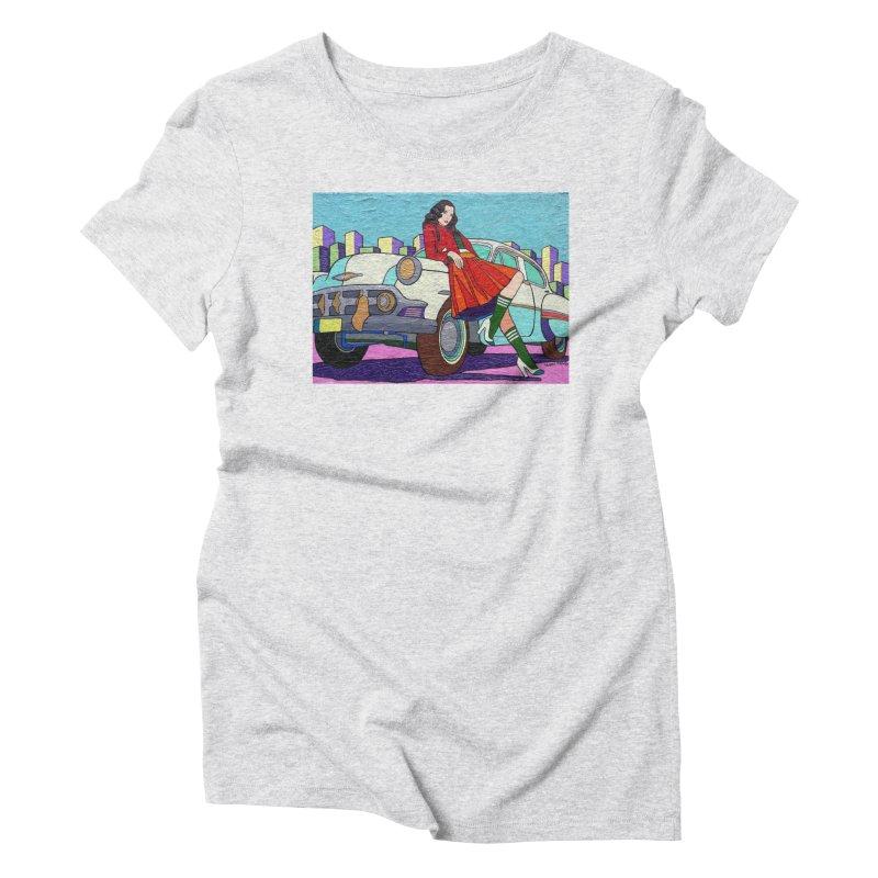 Chevy Girl by Vlado V Women's T-Shirt by We Wear Art Light